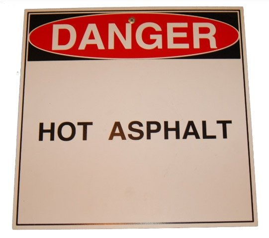 hot asphalt sign