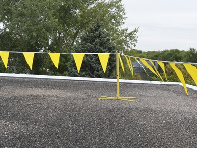 folding warning lines