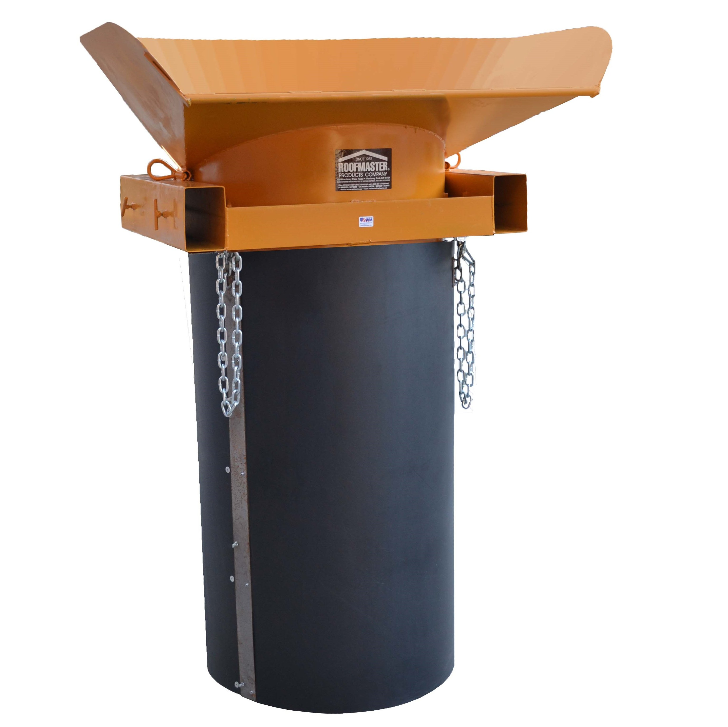 Trash Chute Rubbish : Roofmaster trash chute hopper