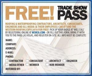 Free WRE Trade Show Pass